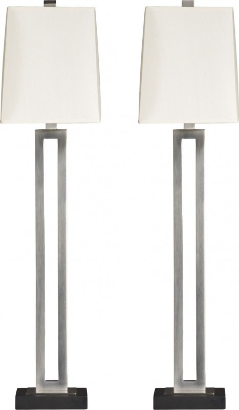 Buffet lamps silver 7 UKCGEOQ
