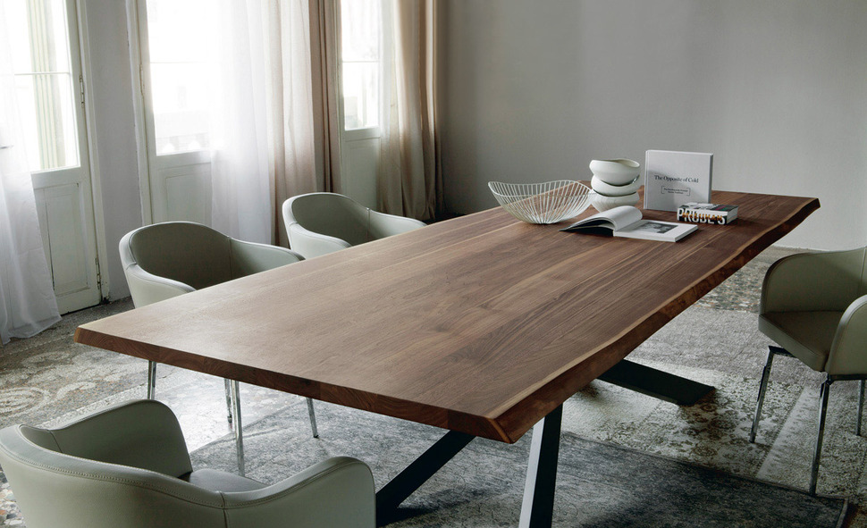 simple solid wood dining table view in gallery dining table-with-irregular- DDLKFSB