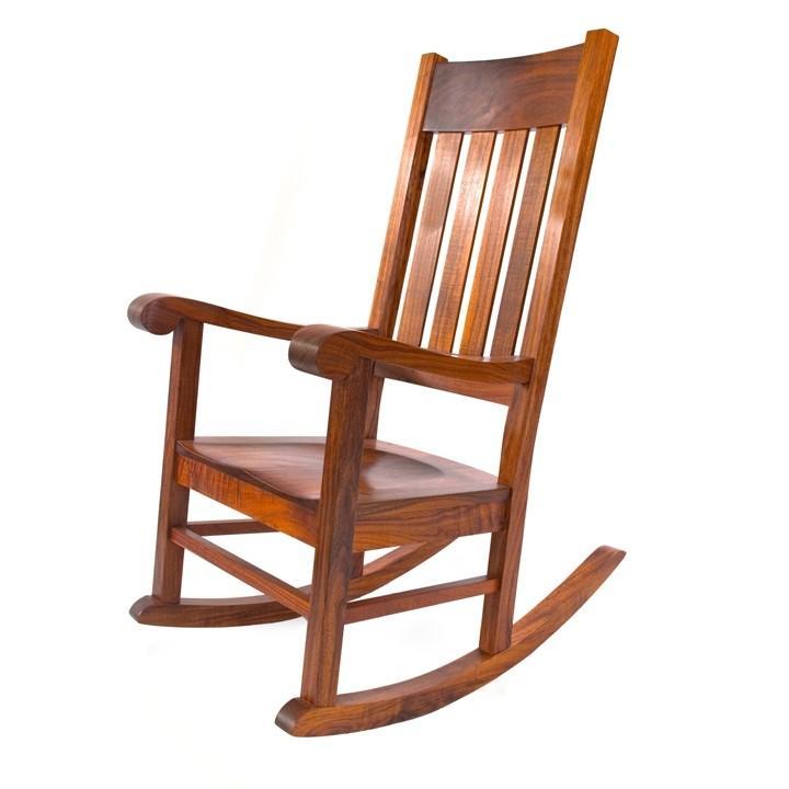 Rocking chair with lamellar back ZPRMZWV