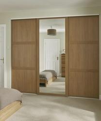 Sliding wardrobe oak shaker panel & mirror door TUIJLET