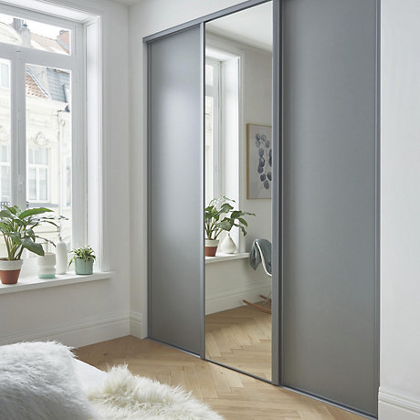 Sliding wardrobe single sliding doors NNNVVDZ