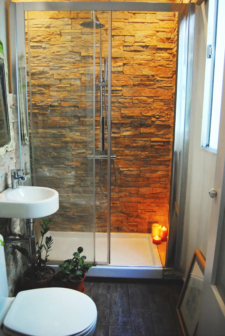 Design for small bathrooms 12. Bring natural outdoor elements into the interior QBVLSXY