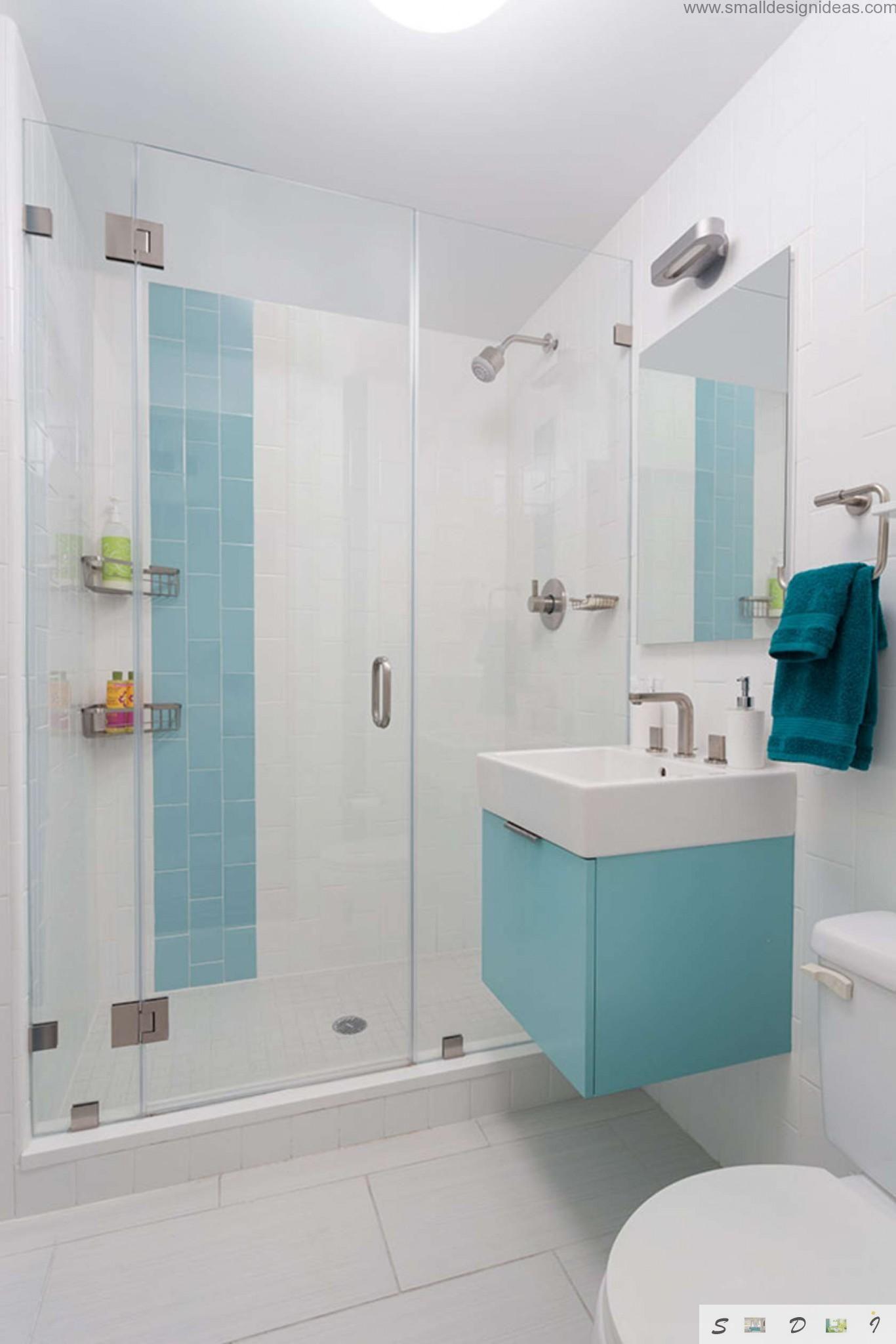 small bathroom design the color palette in a modest bathroom PUKGJZI