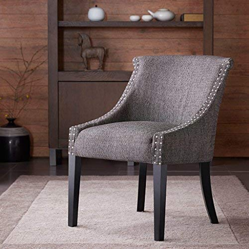 small bedroom chairs caitlyn roll back accent chair gray see below HDPUQVG