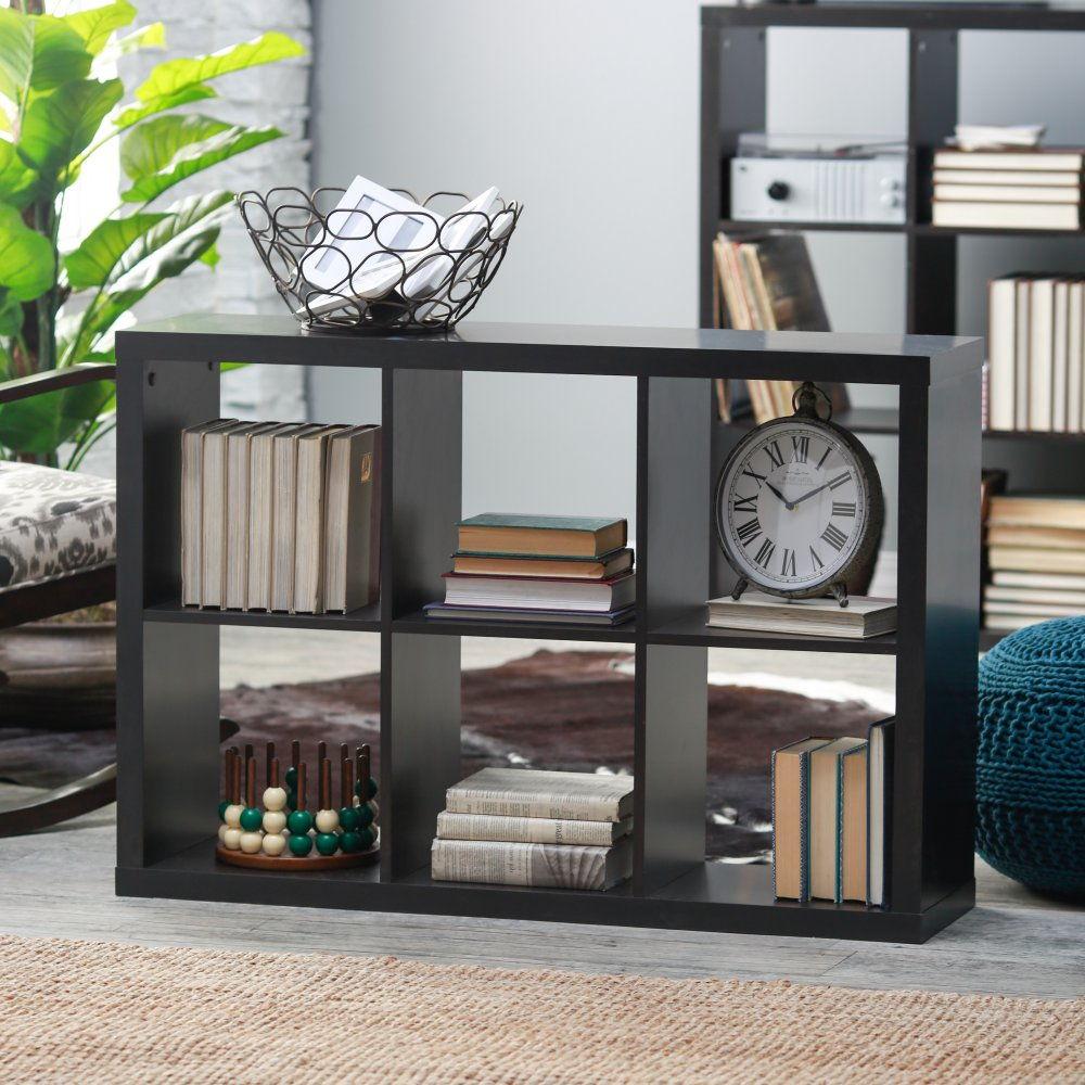 small bookshelf Photo of a small cube shelf KEZIKEW