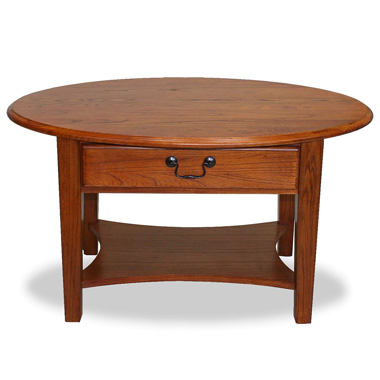 small coffee table amazon.com: leick oval coffee table - medium-sized oak: kitchen & dining room JZXSUBW