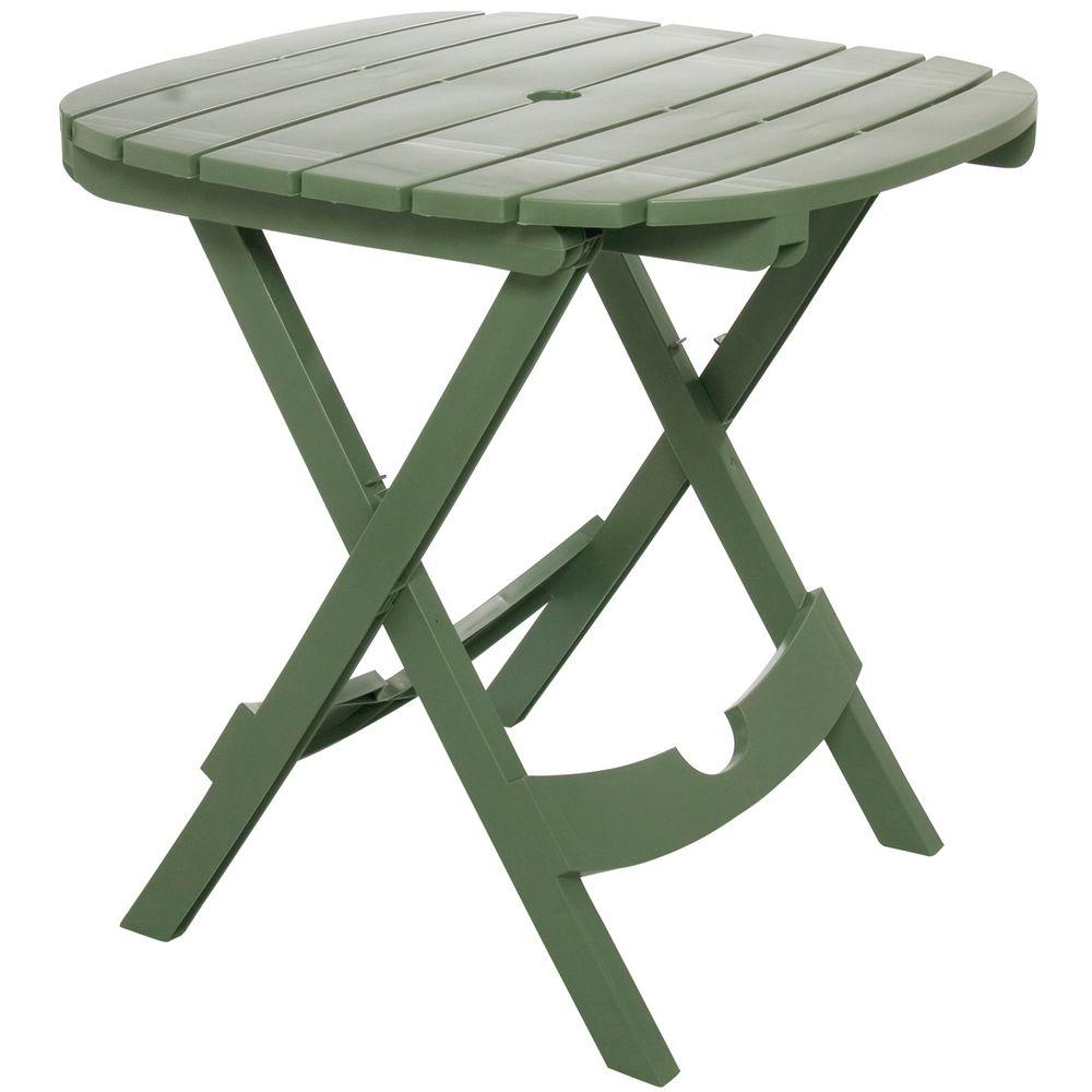 small outdoor table Adams Manufacturing Quick-Fold Sage Resin Plastic Outdoor Cafe Table RLHWFJZ