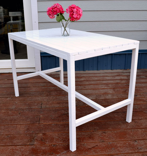 small garden table ana white    harriet outdoor dining table for small spaces - diy NXGTLEY