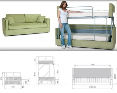 Sofa bunk bed couch sofa bunk bed DPPYEYX