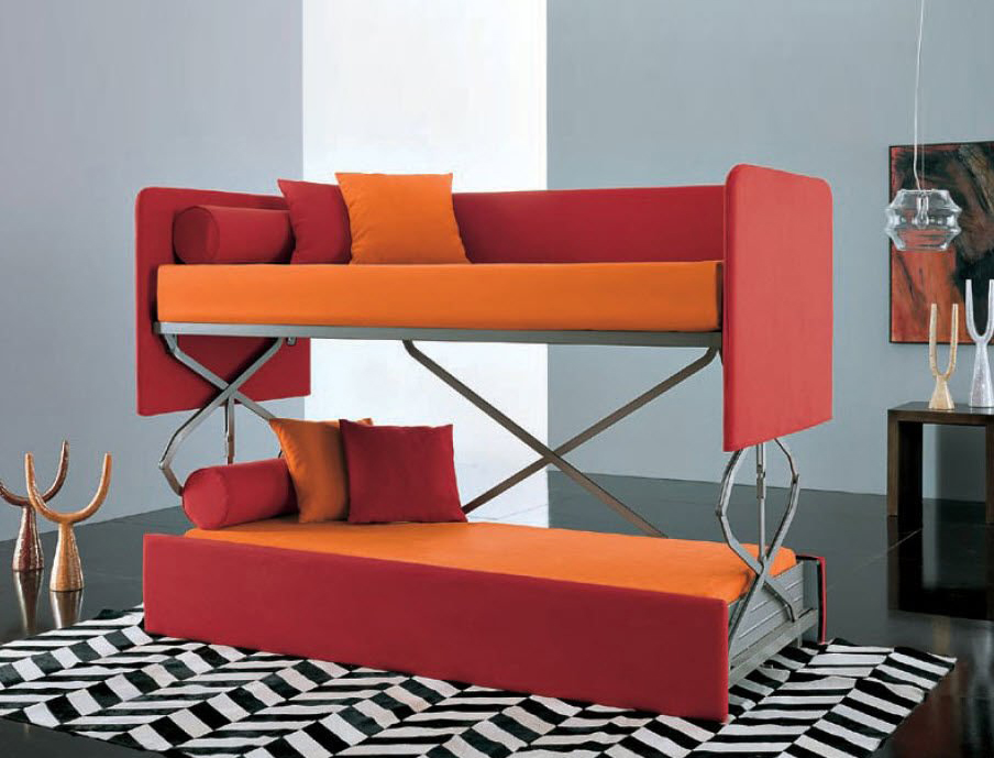 Sofa bunk bed space-saving thresholds: sofas become KEQGGJI bunk beds in seconds