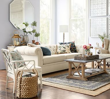 Chesterfield sofa Chesterfield upholstered sofa |  Pottery barn MSHBSRP
