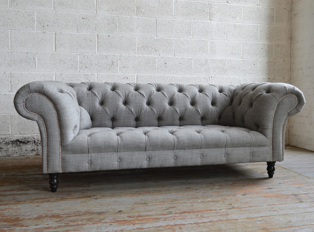 sofa Chesterfield handmade gray romford wool Chesterfield sofa FBQMBGU
