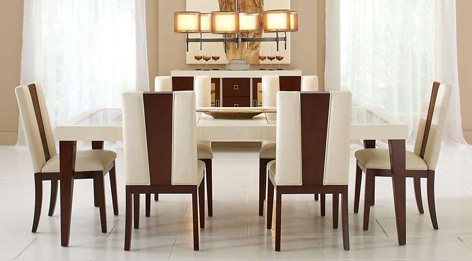 sofia vergara savona ivory 5-part rectangular dining room - dining room UBBMYJT