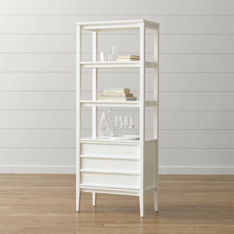 Spotlight White Bookcase + Reviews    Box and barrel PAEFSGJ