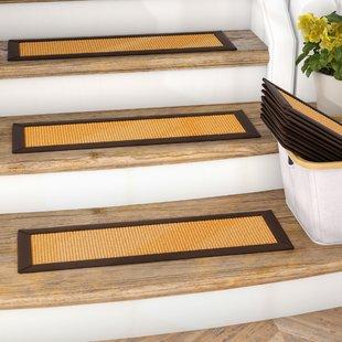 stair steps carpet dawes sisal carpet gold stair steps (set of 13) RPHGSUZ