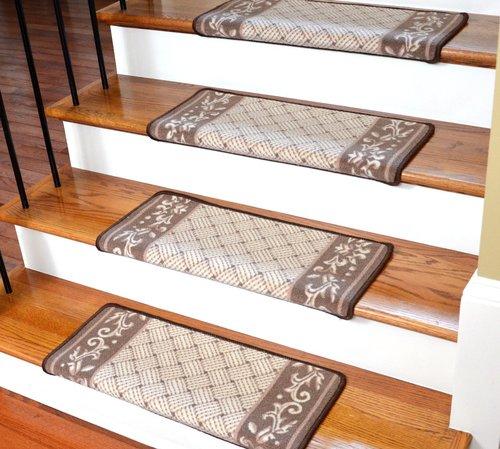 stair steps carpet dean modern diy bullnose wraparound non-slip carpet stair steps - caramel BEKXQFZ
