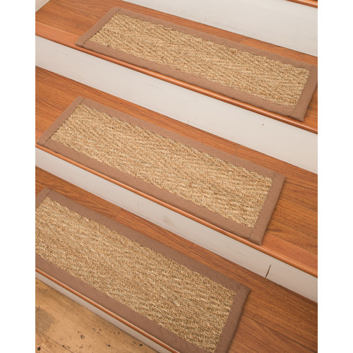 stair steps carpet nature area carpets beach seagrass carpet beige stair steps (set of 13) KSLJGHE