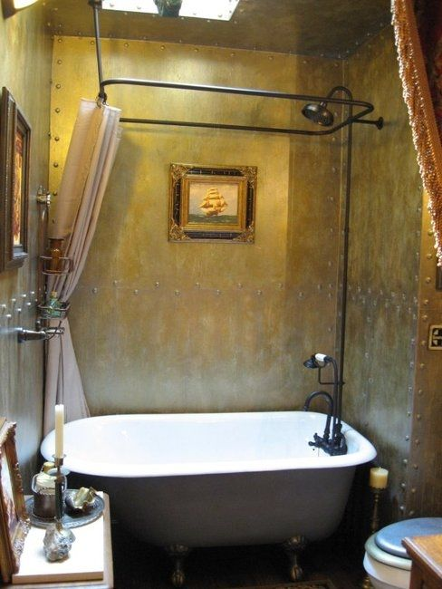 Steampunk |  Steampunk bathroom, steampunk bathroom decor.