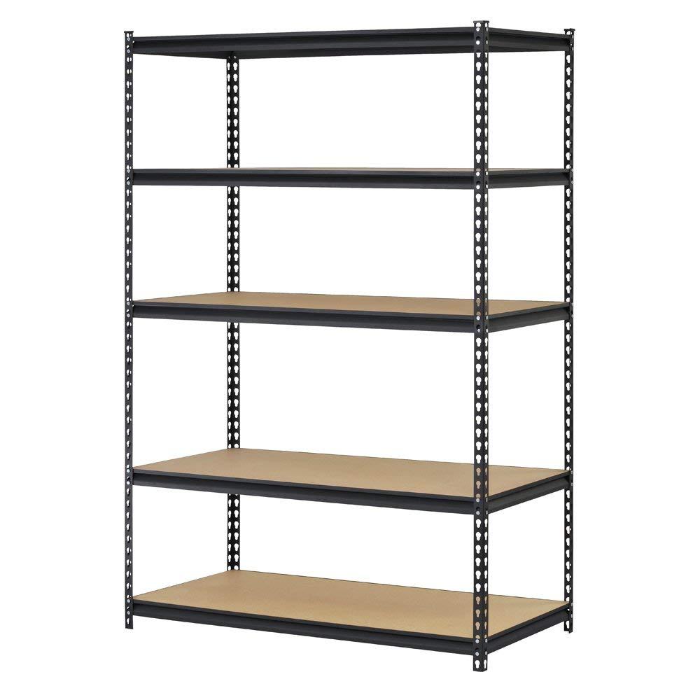 Storage shelving edsal urwm184872bk black steel storage rack, 5 adjustable shelves, 4000 lb.  OIDVPZB