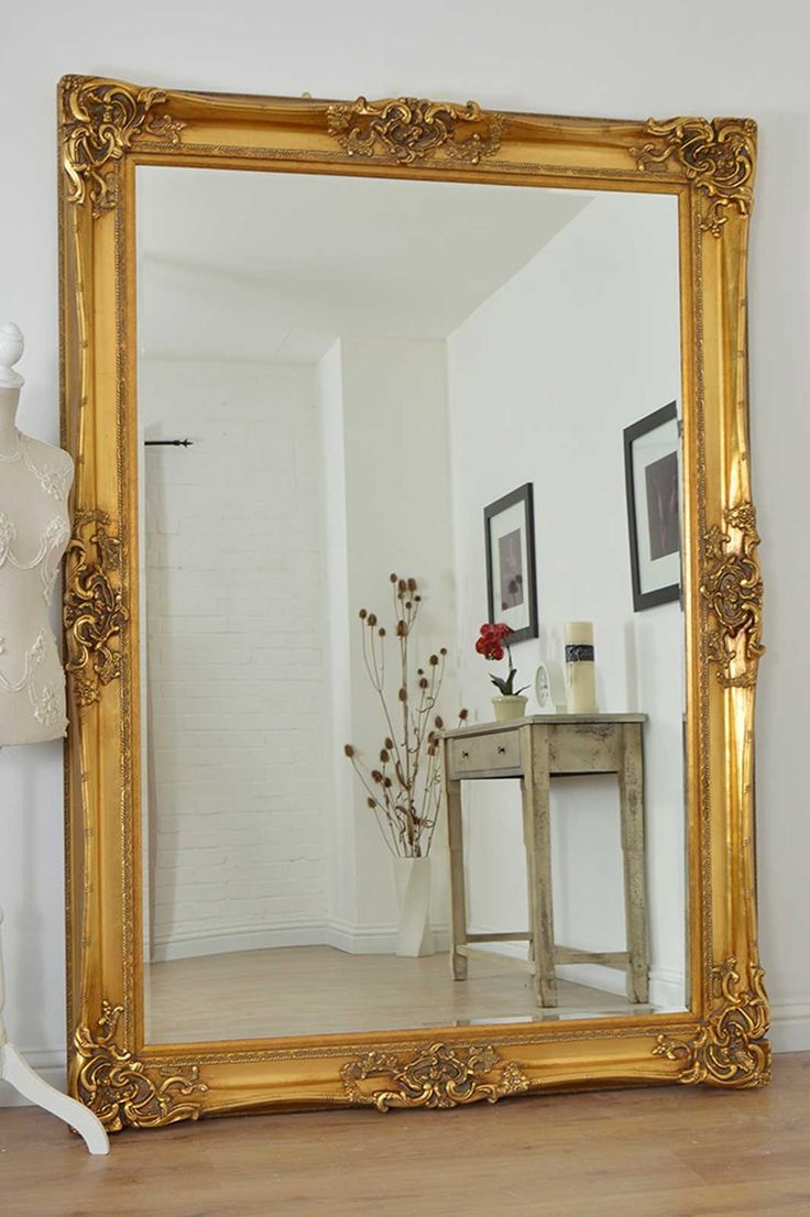 stylish large wall mirror large golden very ornate wall mirror in the antique design WGUEKHP