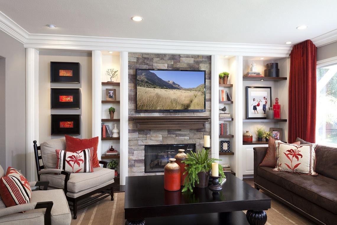 stylish transitional family room 1.1 according to ZHGKBAP