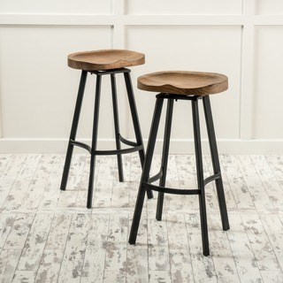 swivel bar stool albia 32-inch swivel bar stool (set of 2) by christopher knight home WDBVIMX