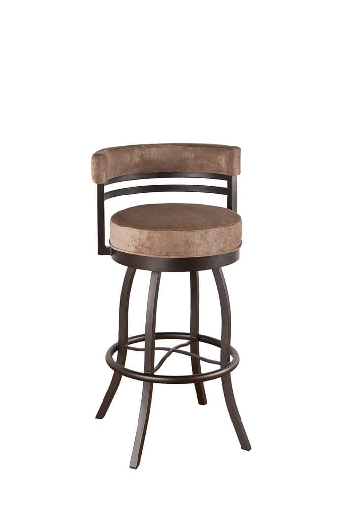 swivel bar stool callee americana swivel stool with low backrest ... KRHCSOM