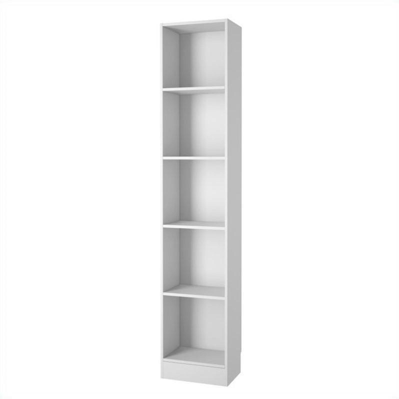 tall narrow bookcase tall narrow bookcase with 5 shelves in white XNTYQLY