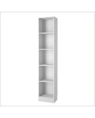 tall narrow bookshelf tvilum element tall narrow 5 shelf bookshelf in white JTYZAKT