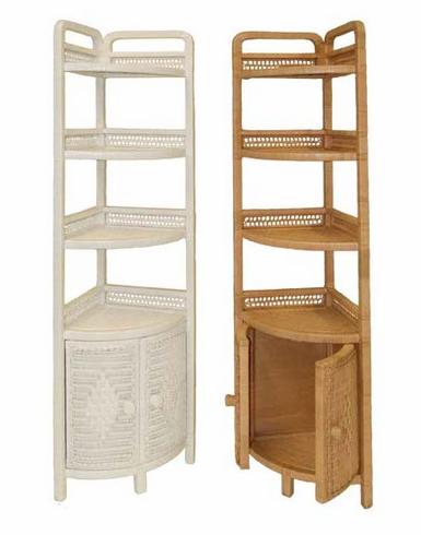 high corner shelf made of wicker KUYPLEY