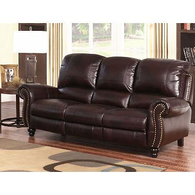 Taylor sofa in grained leather IPVRHAD