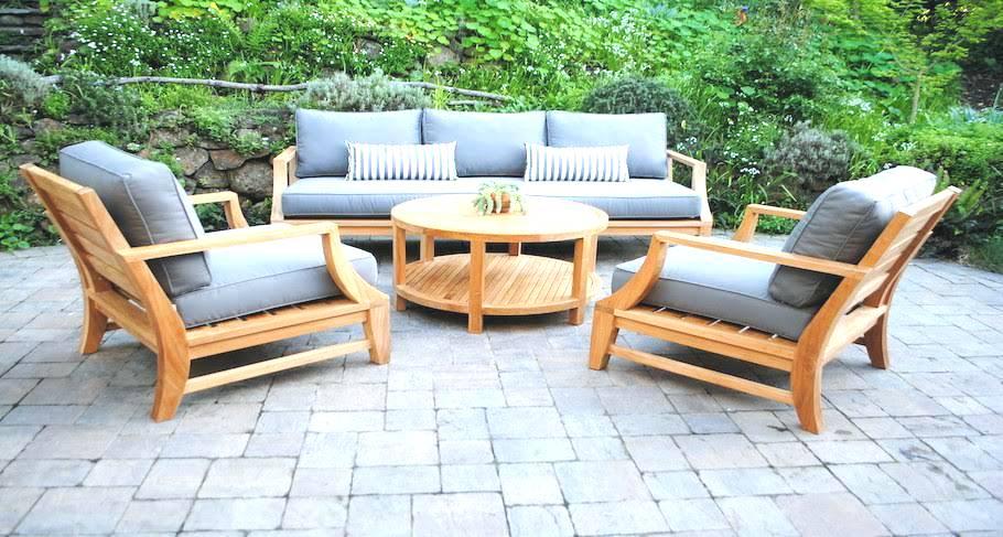 Teak garden furniture interior design: Fascinating garden furniture made of teak on the potter's barn teak terrace IITTEWI