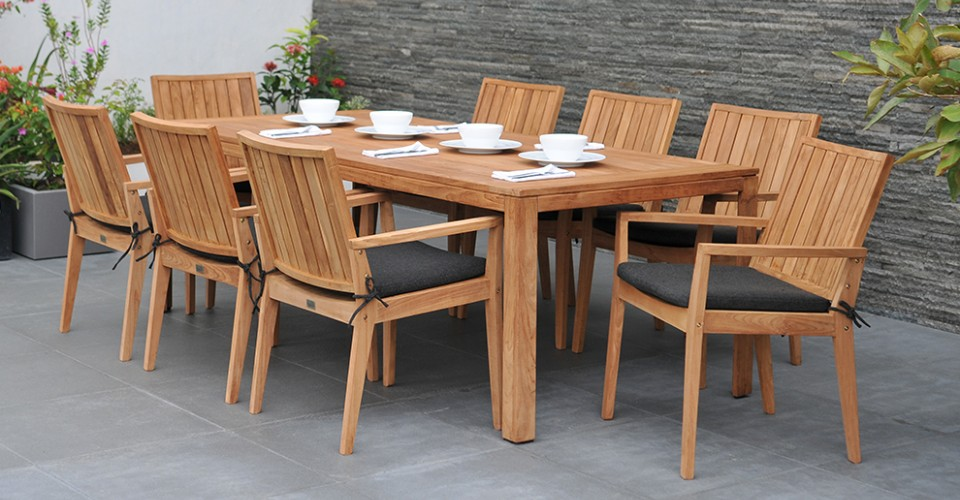 Garden furniture made from teak wood Garden table and chair made from recycled teak wood TRDYINJ