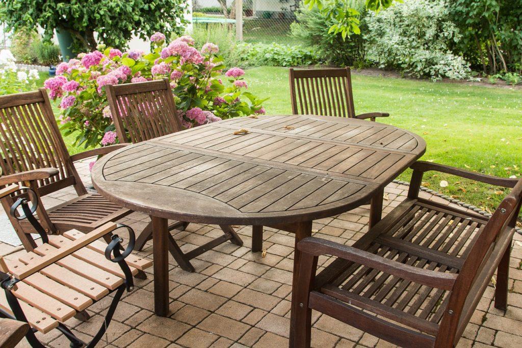 Teak garden furniture Teak wood garden furniture oval table EWROUXA