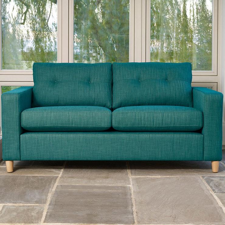 turquoise sofa Metro 3-seater fabric sofa, blue-green WUHFJCR