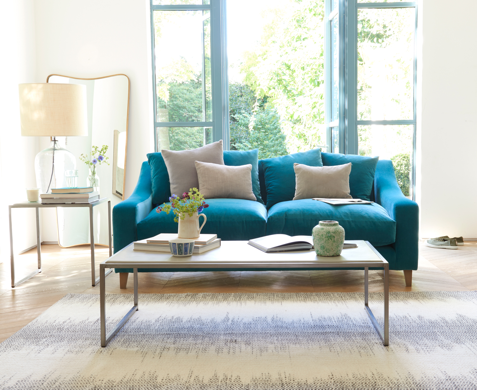 teal sofa Oscar sofa in our real teal clever velvet XHGPMDO