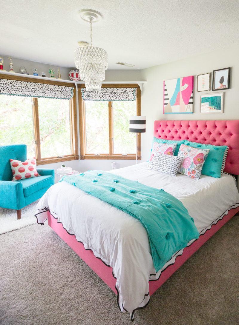 Teen girl bedroom bright teen girlu0027s bedroom ZAQPSLH