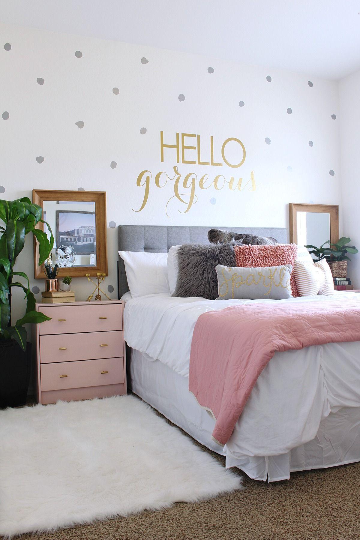 Teen Girls Bedroom Teen Room Makeover Ideas - www.classyclutter.net    love the combination of gray LPIQZSW