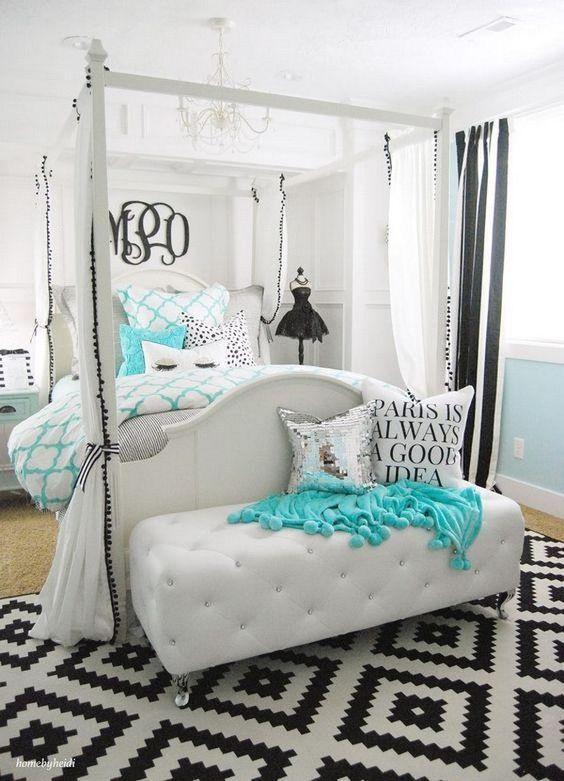 Bedroom for teenage girls Tiffany-inspired bedroom for teenage girls .: LMOIBIX
