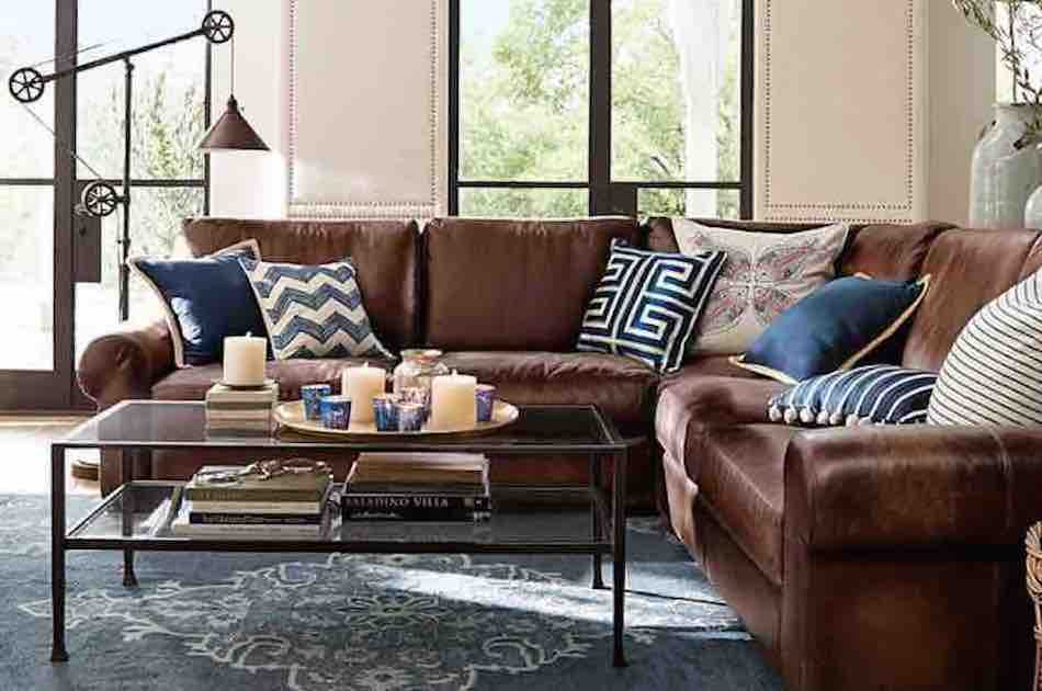 the best chic living room ideas in blue and brown ENWODPY