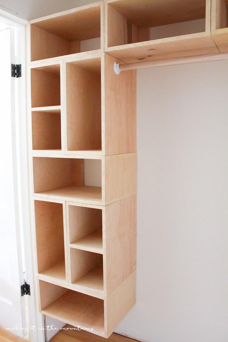 This brilliant DIY closet organizer isn't just easy to build, YXLGDLH