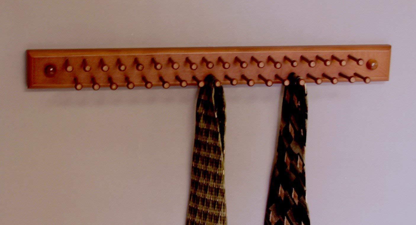 tie holder amazon.com: tie / necklace holder, dark cherry made in usa: home & kitchen SIWDGNA