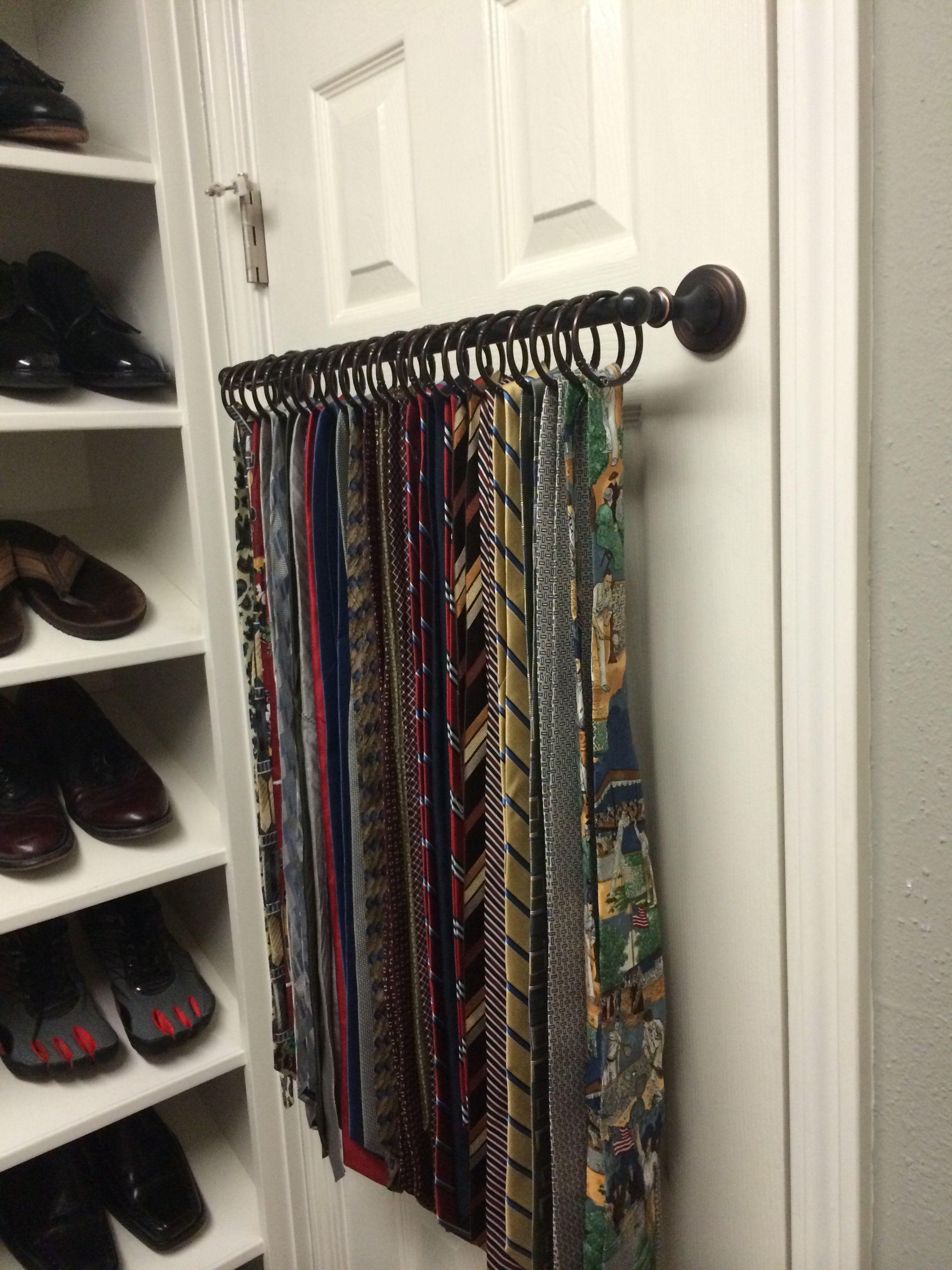 Tie holder - great idea for belts, scarves, etc. DPOWXEQ