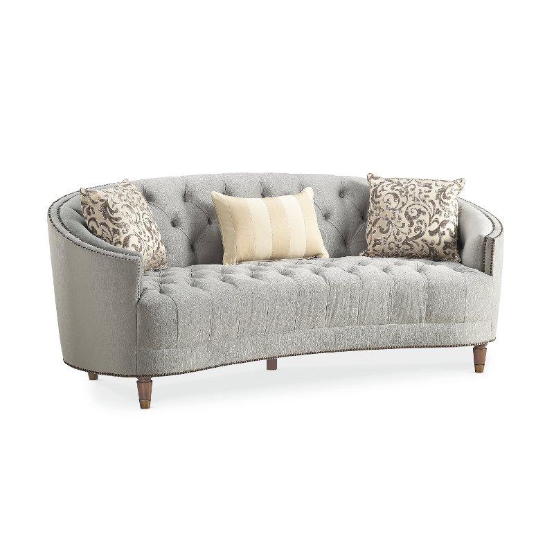 traditional gray curved sofa - classic elegance XVHHLZT
