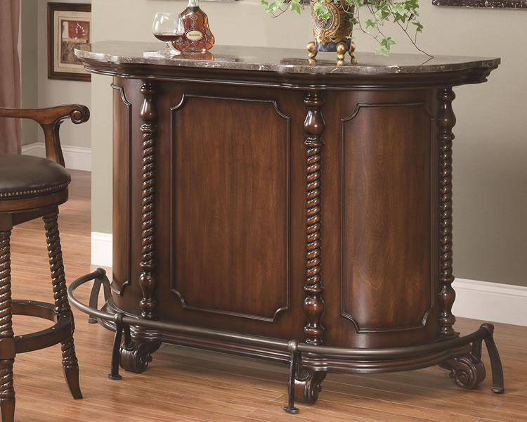 traditional bar furniture with marble top chicago ... KADBHET