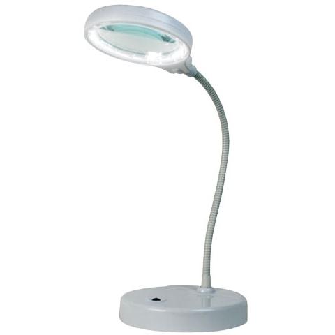 Triumph LED table magnifier lamp - white SCHQXWZ