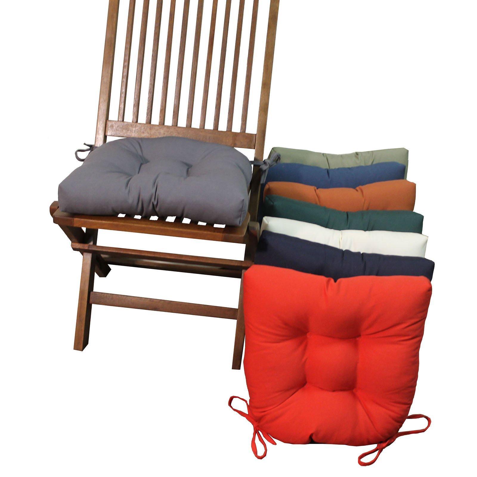 Twill dining room chair cushions - set of 4 |  Hayneedle PJWURTX