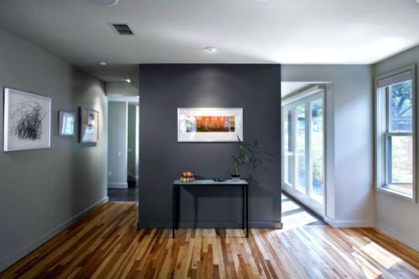two-tone living room interior color ideas comfortable gray wall unique EYVKTGP