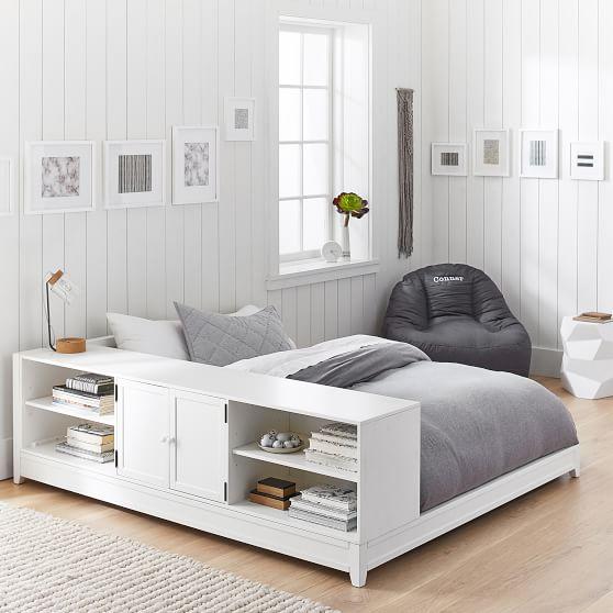 ultimate platform bed + cubby / cabinet set FGDMRMT