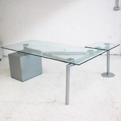 Ultom Isotta glass desk |  L-shaped desk |  Executive desk made of glass DVEFGD